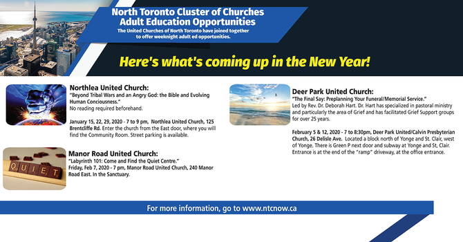 North Toronto Cluster of Churches 2020 image