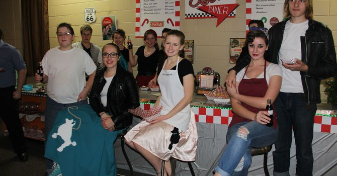 Pictures from 50's Diner - Adult Christmas Dinner image