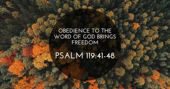 Obedience to the Word of God Brings Freedom Pt1