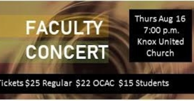 McMillan Creative Arts Faculty Concert(S)
