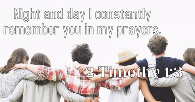 Young Adults: We want to be praying for you.  image