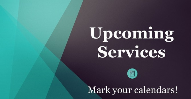 Upcoming Services image