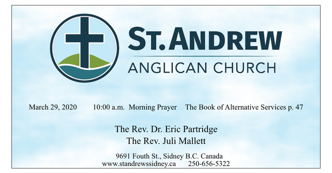 10:00 a.m. Sunday Service of Morning Prayer, March 29, 2020