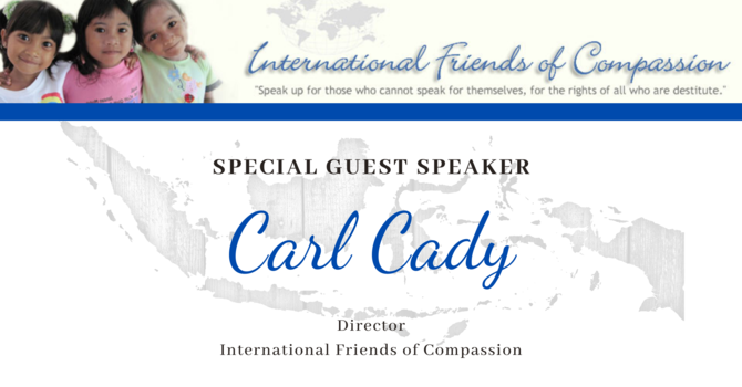 Guest Speaker: Carl Cady