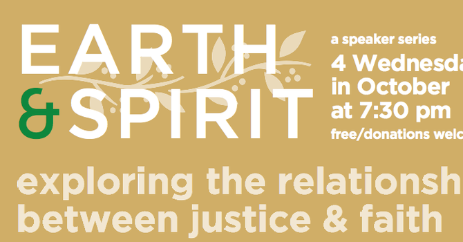 Speakers Series: Earth and Spirit 2016 image