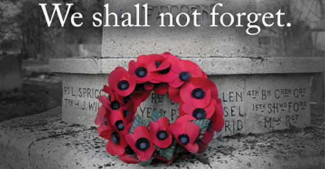 Pentecost 25 - Remembrance Day image