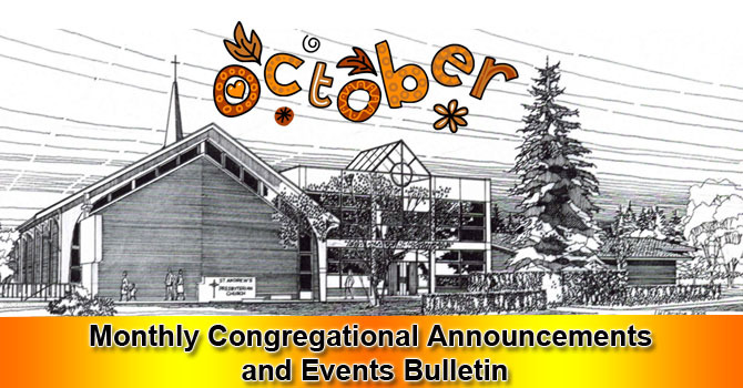 October 2018 Monthly Congregational Announcements and Events image