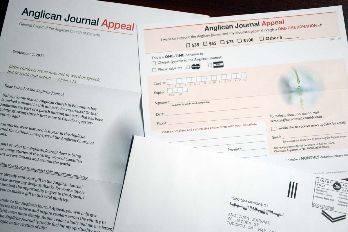 Anglican Journal Appeal Reminder Gt The Anglican Church Of