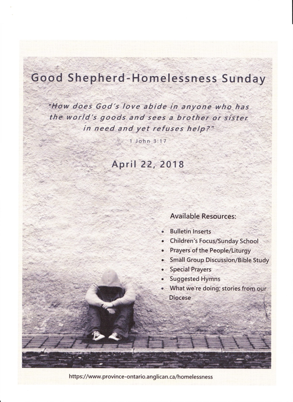 Homelessness Sunday | Parish of Copper Cliff and Lively