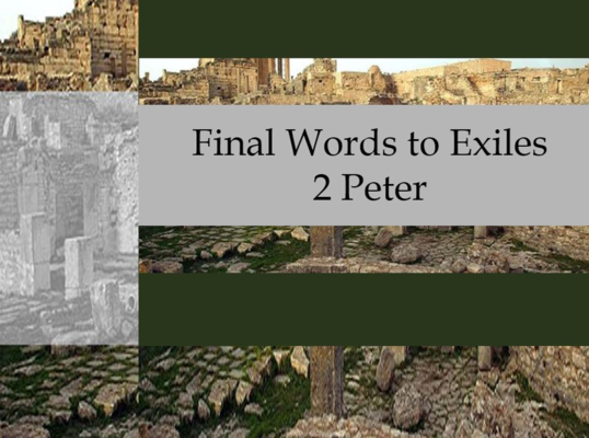 Final Word to Exiles