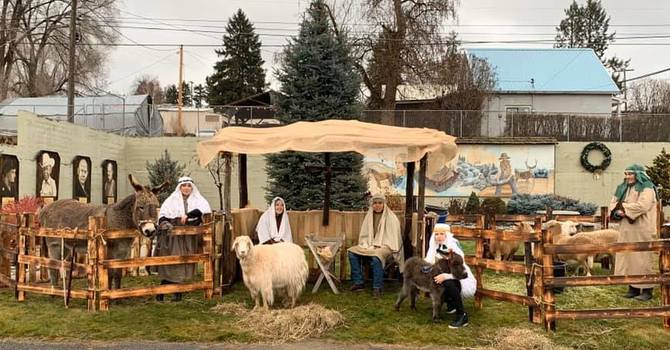 Live Nativity spotted in downtown Tonasket! image