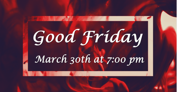 Bulletin for Good Friday Service of Darkness image