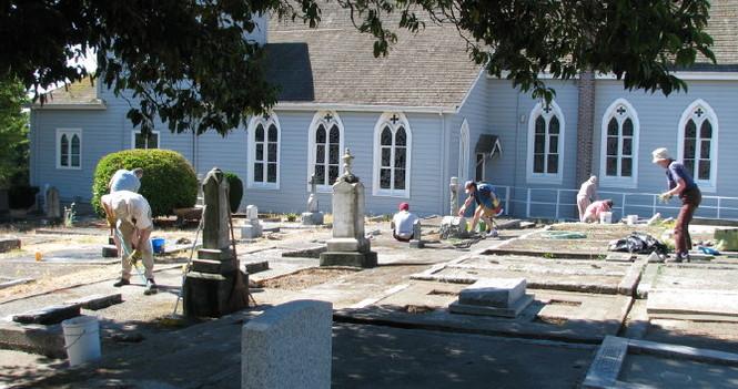 Community Cleanup of St. Luke's Churchyard