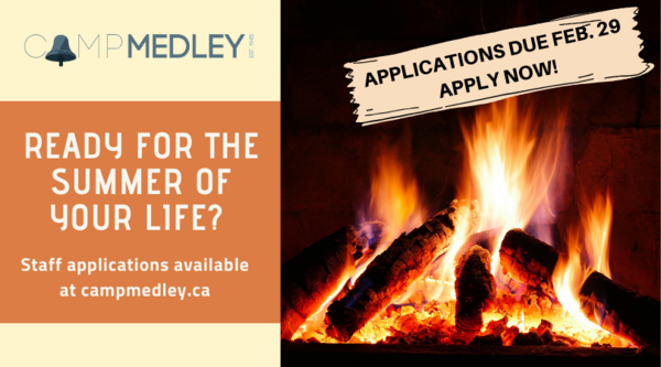 Camp Medley call for staff applications!