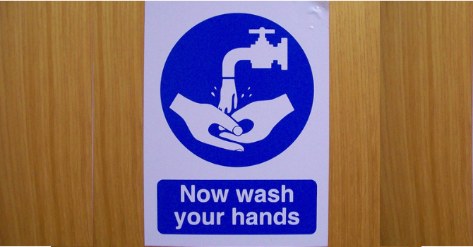 Now wash your hands image