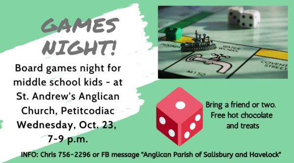 Games night in Petitcodiac!