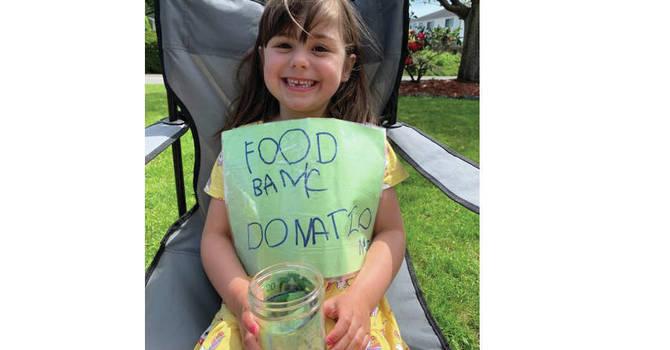 Birthday Girl Raises over $1,000 for CV Food Bank image