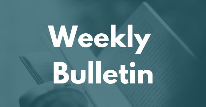 Bulletin January 13, 2019