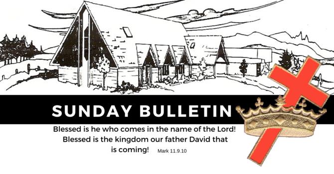 Bulletin - Sunday, November 24, 2019 image