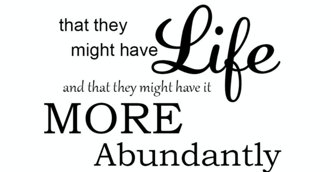 """An Abundant Life Reframed"""