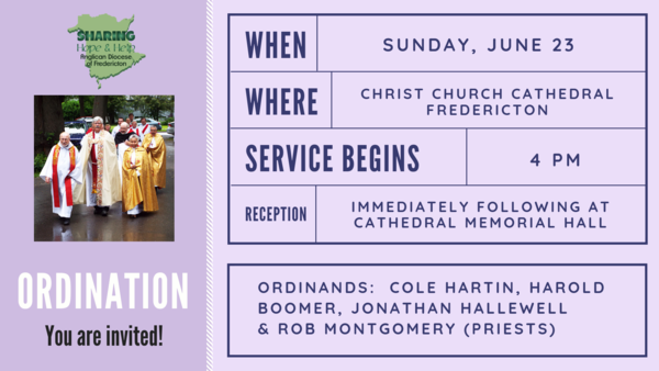 You're invited to Ordination!