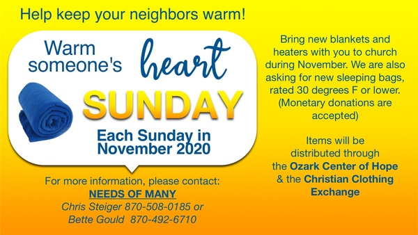 Warm a Heart Sundays November 2020
