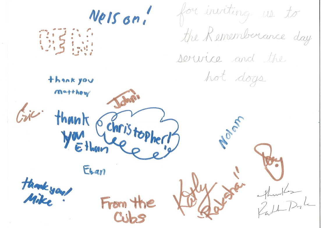 Thank You Cards From The Scouts Fellowship Hospitality St
