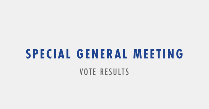 Vote Update from the Board of Elders image