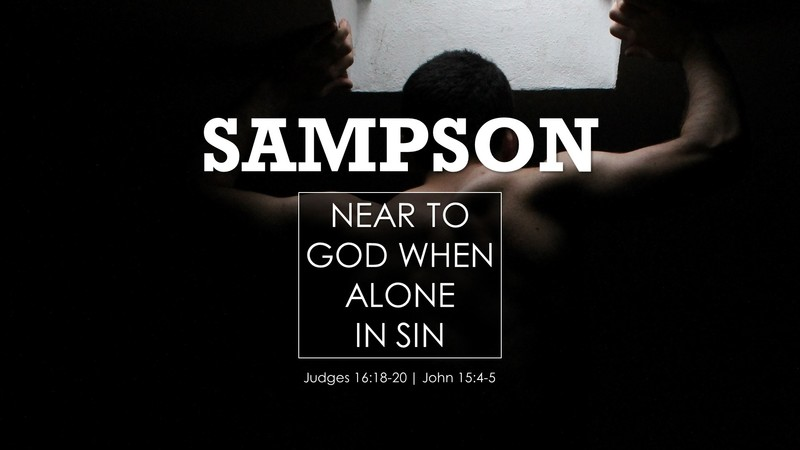 Near to God When Alone in Sin