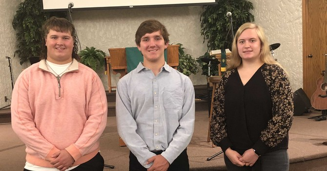 3 Young People Profess Their Faith image