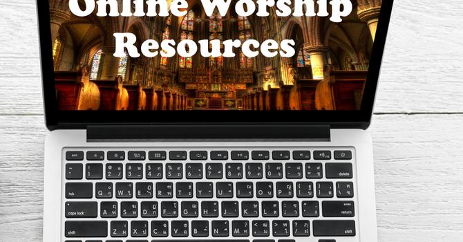 Online worship resources. image