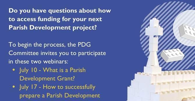 Parish Development Grant Webinars image