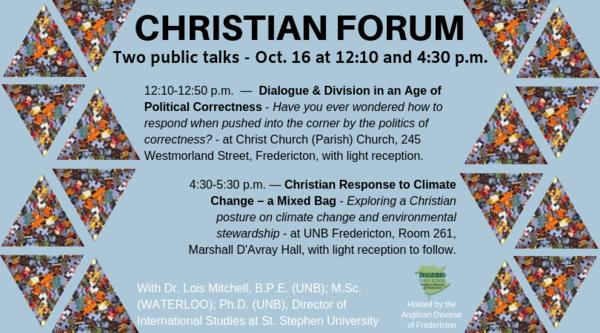 Christian Forum public talks
