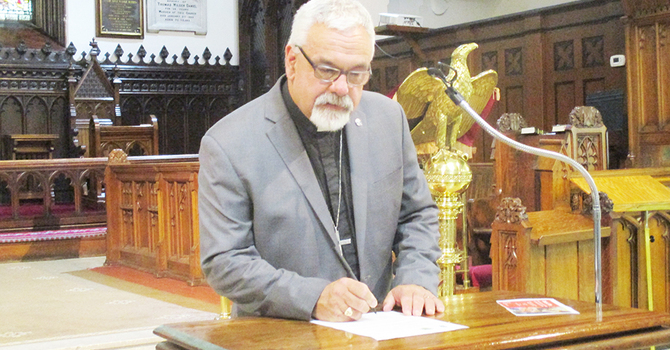 A message from Bishop David: 'How long?' image