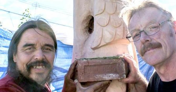 First Nations Carver at St. David and St. Paul, Powell River image