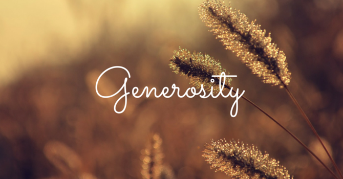 New Sermon Series: Generosity image