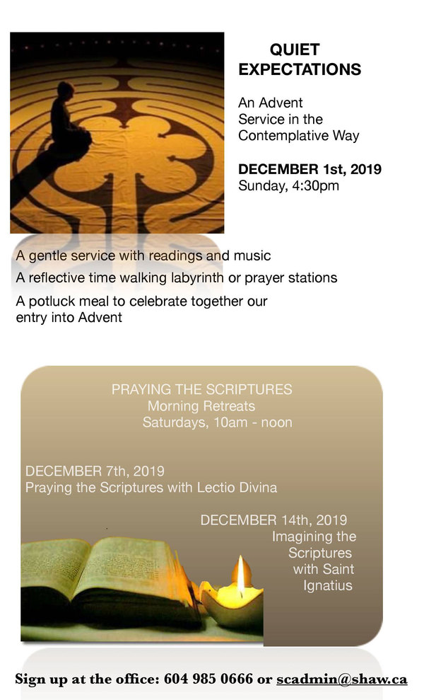 Advent programs at St Catherine's