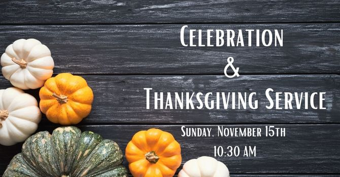 Combined Celebration and Thanksgiving Service image