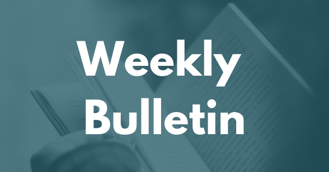Weekly Bulletin - March 31, 2019