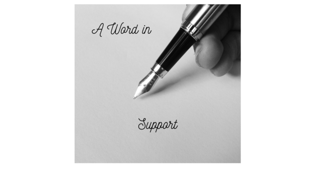 A Note Of Support image