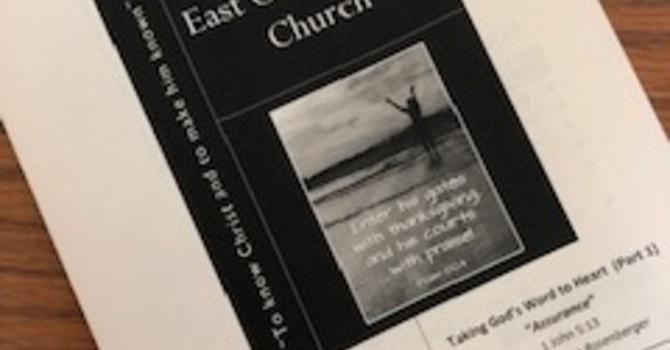 August 4, 2019 Church Bulletin image