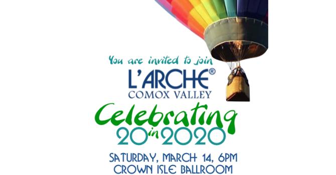 L'Arche Comox Valley 20th Anniversary Gala Invitation image