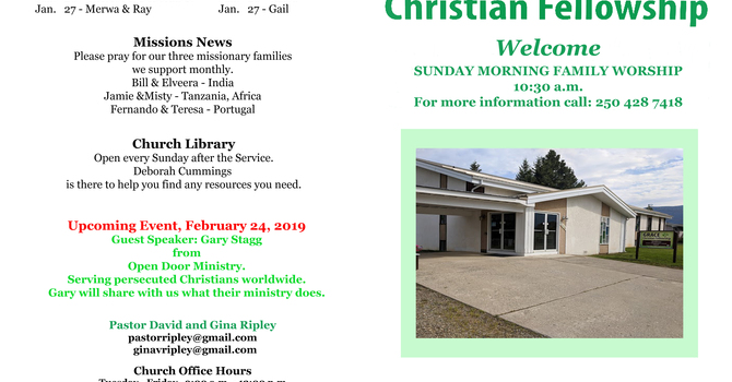 Our Bulletin for the month of January. image