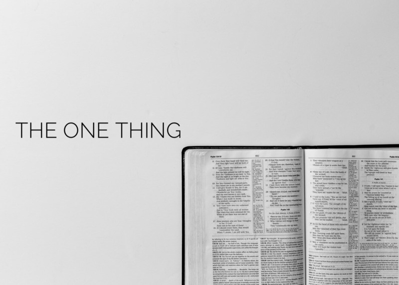 #1 - The ONE Thing