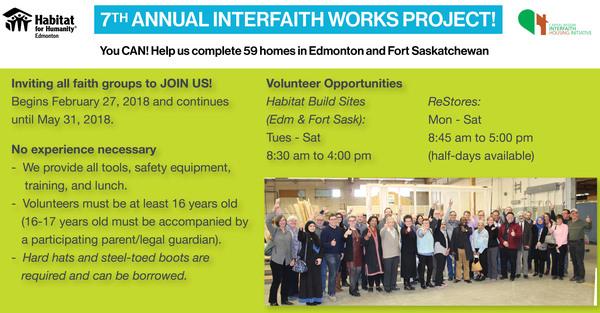 7th Annual Interfaith-Habitat Works Project