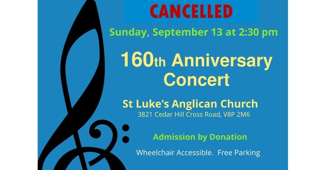 Cancelled - 160th Anniversary Concert image