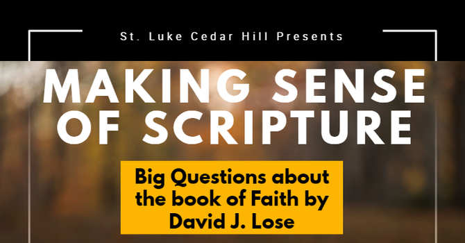 Register Now for Making Sense of Scripture
