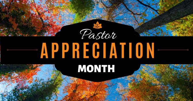 October is Pastor Appreciation Month! image