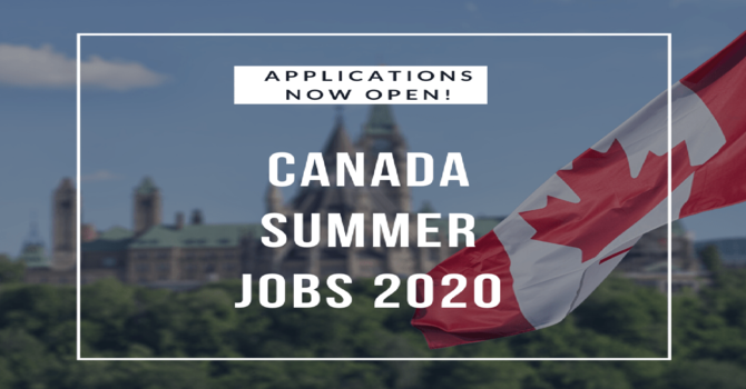 Canada Summer Jobs 2020 – Applications Open! image