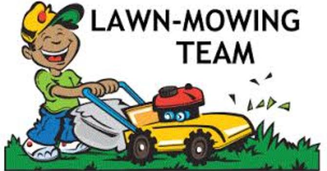 Lawn Care Roster at Back of the Hall image